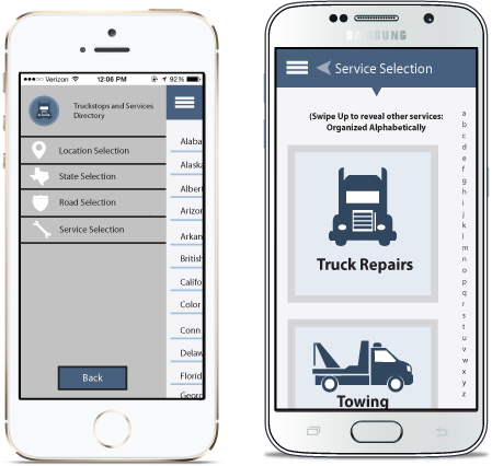 Truck Stops and Services App