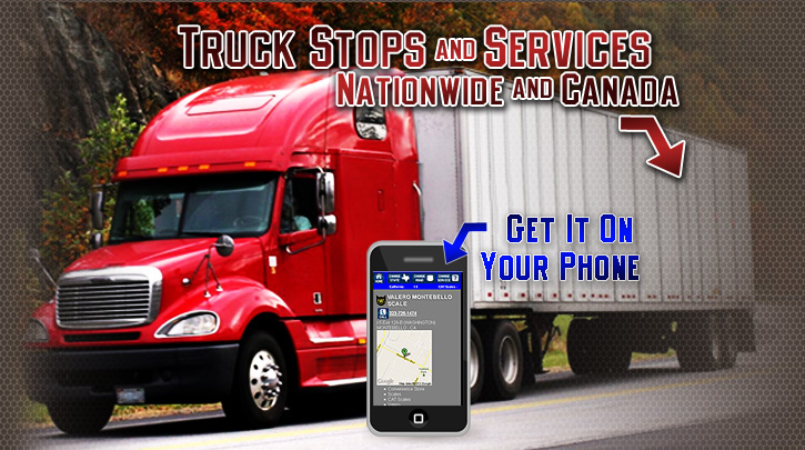 Truck Stops and Services in USA and Canada