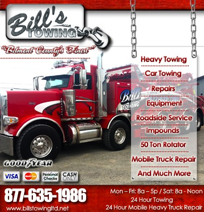 I 70 Towing >> Bill S Towing I 70 Exit 40 Truck Stop Service Directory