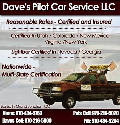 Dave\'s Pilot Car Service   Truck Stop/Service Directory