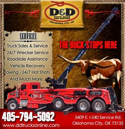 D & D Towing >> D D Truck Sales And Services Braman Ok Truck Stop