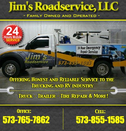 Jim S Road Service Richland Mo Truck Stop Service Directory
