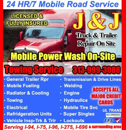 j j truck trailer repair on site mobile livonia mi truck stopservice directory