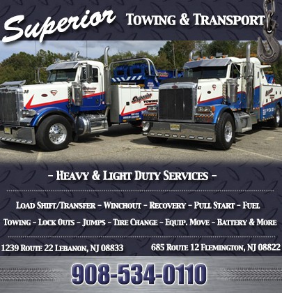 Superior Towing & Transport | FLEMINGTON, NJ | Truck Stop/Service Directory