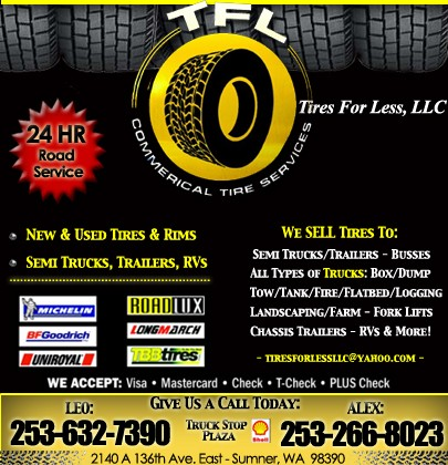 Tire For Less >> Tires For Less Llc Sumner Wa Truck Stop Service Directory