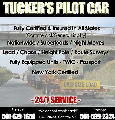 Tucker\'s Pilot Car   Truck Stop/Service Directory